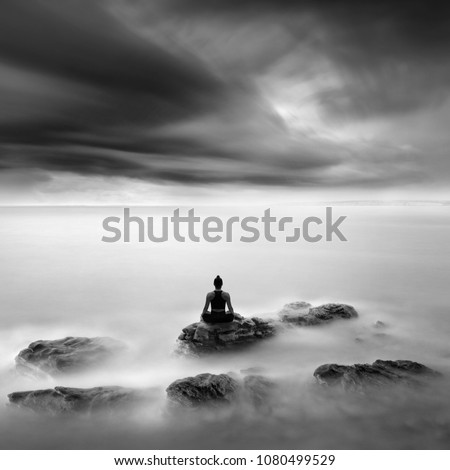 Lotus Pose Yoga Practice Fine Art Stock Photo Edit Now 1080499529