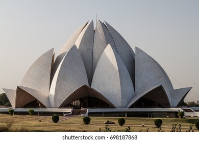 Lotus Temple, Bahai House of Worship, located in Delhi, India