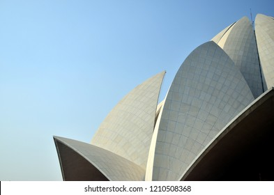 Lotus Temple, a symbol of peace & harmony for all religions and faiths, it is a popular tourist destination in Delhi,India. Made from marble, it is most beautiful Bahai temple in the world. Circa 2018