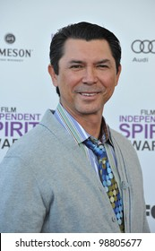 Lou Diamond Phillips at the 2012 Film Independent Spirit Awards on the beach in Santa Monica, CA. February 25, 2012  Santa Monica, CA Picture: Paul Smith / Featureflash
