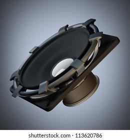 Loudspeaker High resolution 3d render