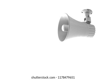 loudspeaker isolated on white background, copy space.