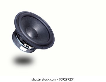 Loudspeaker isolated from white background.
