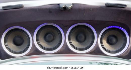 loudspeaker on car