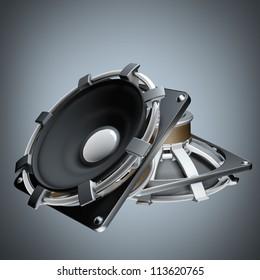 Loudspeakers High resolution 3d render