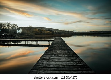 Lough Graney set in the heart of caher county clare perfect for its wildlife and fishing spots - Shutterstock ID 1293064273