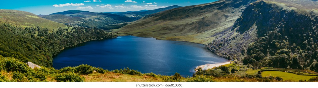 Lough Tay is a small but scenic lake set in the Wicklow Mountains in County Wicklow, Ireland.