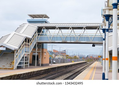Loughborough/ UK - 03.03.19 : Loughborough train station near Nottingham and Leicester