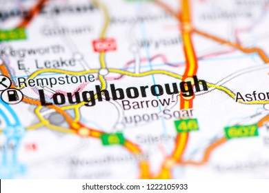 Loughborough. United Kingdom on a map