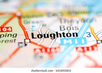 Loughton. United Kingdom on a geography map