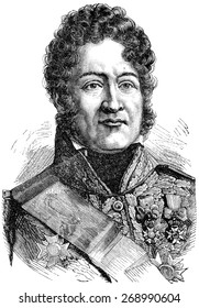 Louis Philippe I, vintage engraved illustration. History of France  1885.