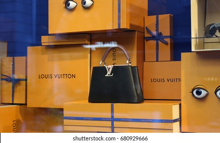 Louis Vuitton bag. Ukraine, Kiev - July 2, 2017