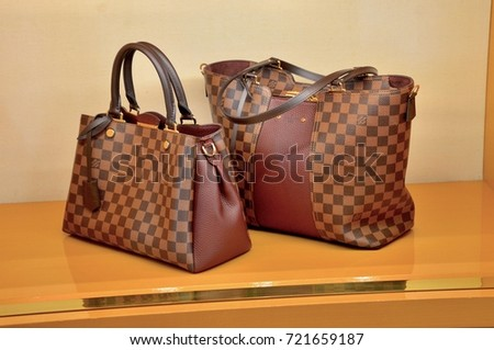 7d0a914acd4f Louis Vuitton Designer Handbags Luxury French Stock Photo (Edit Now ...