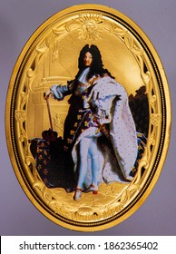 Louis XIV Portrait from commemorating  coin.