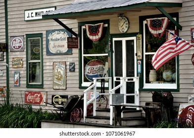 LOUISA COUNTY, VA - June 4, 2010: A country store front in rural Virginia
