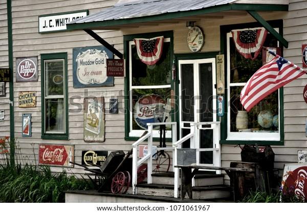 LOUISA COUNTY, VA - June 4, 2010: A country store front in rural Virginia