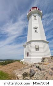 Louisbourg Lighthouse (Cape Breton, Nova Scotia, Canada)
