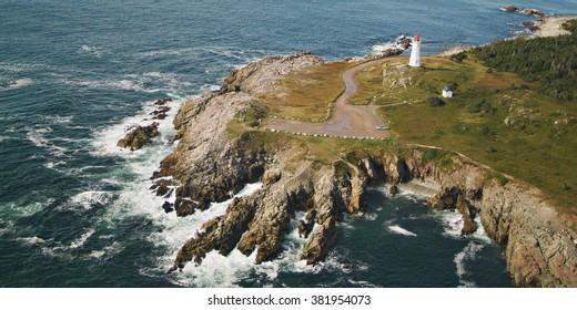 Louisbourg Lighthouse, Cape Breton, Nova Scotia.