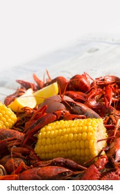 Louisiana Boiled Crawfish with Corn and Potatoes