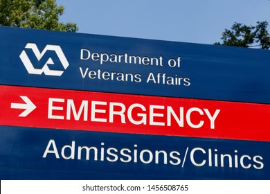 Louisville - Circa July 2019: Veterans Affairs signage and logo. The VA provides healthcare services to military veterans VII
