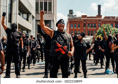 Louisville, Kentucky / United States - July 24 2020: Not Fucking Around Coalition Rally in Louisville to demand justice for Breonna Taylor