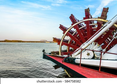 LOUISVILLE, KENTUCKY, USA-  FEB 2, 2016: Belle of Louisville paddlewheel in the Ohio River in Louisville KY.