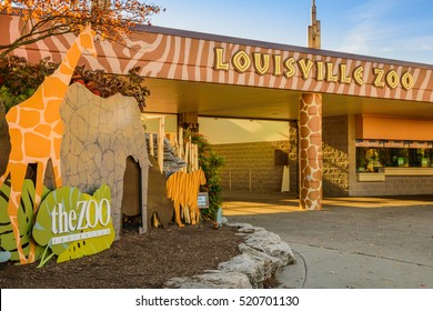 LOUISVILLE, KENTUCKY, USA - NOV. 20, 2016:  The Louisville Zoo is a 134-acre naturalistic and mixed animal facility in Louisville, Kentucky. The zoo currently exhibits over 1,700 animals.