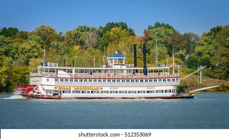 LOUISVILLE, KENTUCKY, USA - OCT. 30, 2016:  The Belle of Louisville is the oldest operating Mississippi River-style steamboat in the world. The Belle offers a variety of cruises on the Ohio River.