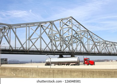 LOUISVILLE, KY - JANUARY 18: The Second Street Bridge on January 18, 2013 in Louisville, Kentucky. The Second Street Bridge was built in 1928 and cost $4.7 million.