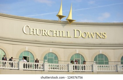 LOUISVILLE, KY - MAY 4: The exterior of Churchill Downs pictured on May 4, 2010 in Louisville, Kentucky. Churchill Downs was ranked 5 of 65 Thoroughbred racetracks in North America in 2009.