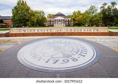 LOUISVILLE, KY, USA - October 24, 2017: The University of Louisville, founded in 1798, is the home of around 23,000 students and the first city-owned public university in the United States of America.