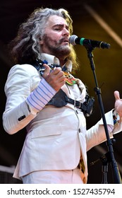 Louisville, KY / USA - September 20, 2019: Wayne Michael Coyne Lead Singer for the Flaming Lips at Bourbon and Beyond Music Festival at the Kentucky Expo Center Fairgrounds