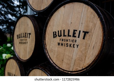 "Louisville, United States: June 11, 2018"": Bulleit Fronier Whiskey Barrel"