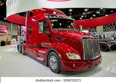 Louisville, USA - March 22, 2018: Peterbilt truck at MATS 2018, Louisville, Kentucky