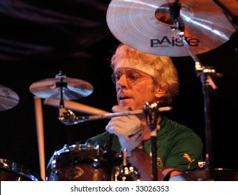 LOULE, PORTUGAL - JUNE 28: Stewart Copeland performs onstage at Festival Med June 28, 2009 in Loule, Portugal.