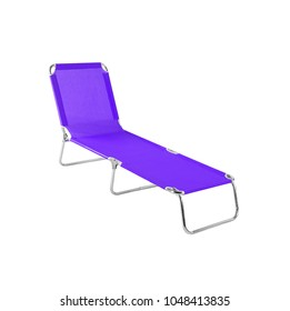 Lounge chair isolated on white