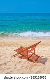Lounge chair n the beach