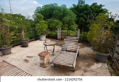 Lounge chair. Rustic Indonesian outdoor wood furniture