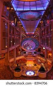 Lounge of a cruiseship