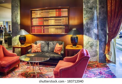lounge room in hotel