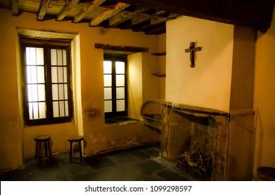 Lourdes / France - 07/17/2011: House where Bernadette Soubirous lived in Lourdes, now a museum.