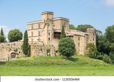 Lourmarin castle in Provence, France