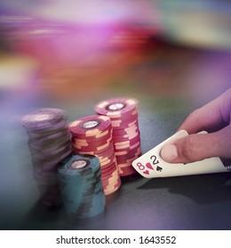 Lousy hold em hand in Vegas.