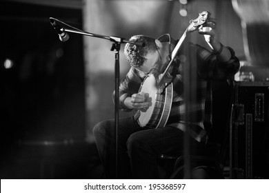 Louth,Ireland-May 4th-John Spillane and his band perform live at Vantastival,Bellurgan Park,County Louth on May 4th 2014,in Louth,Ireland. John Spillane is a popular balladeer from Cork,Ireland.