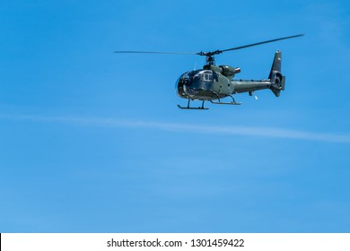 Military Helicopter Icon Isolated White On Stock Vector (Royalty