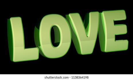 Love. 3D Illustration.