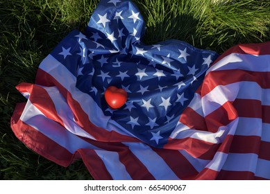 Love America. Selective focus
