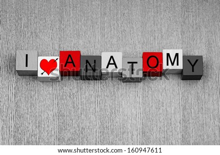 Love Anatomy Medical Health Care Sign Stock Photo Edit Now