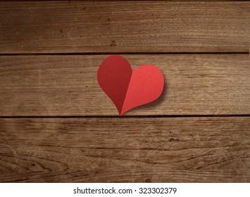 Love, background, romance, heart, shape, icon, symbol, concept, abstract, paper, folding, wood, table, notice,  vintage, wedding, celebration, couple, valentine, message,