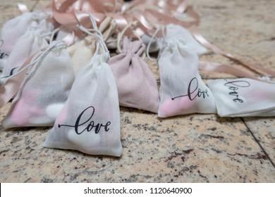 Love bag for wedding souvenir